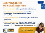 learning4life the 4 step lesson plan
