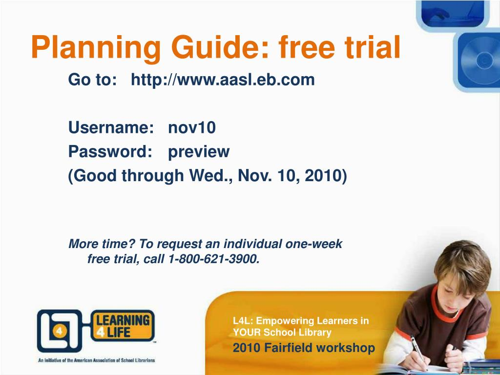 Planning Guide: free trial