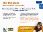 the mission revolution or evolution