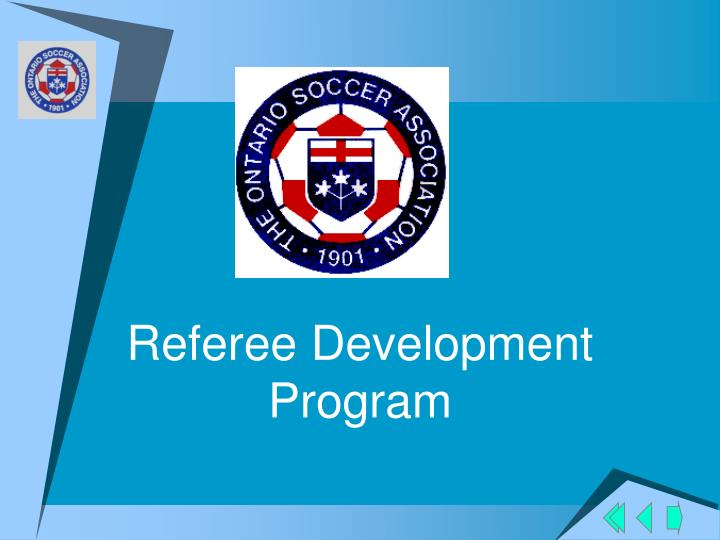 Referee development program