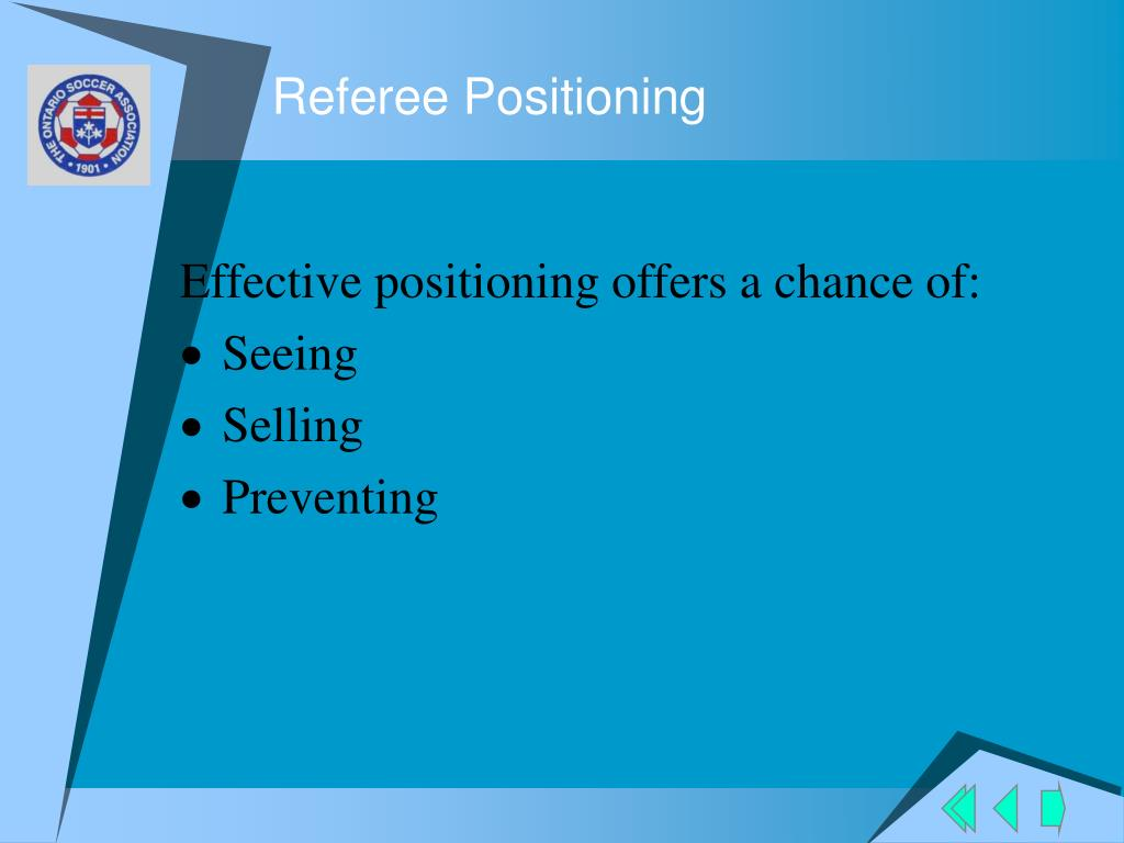 Referee Positioning