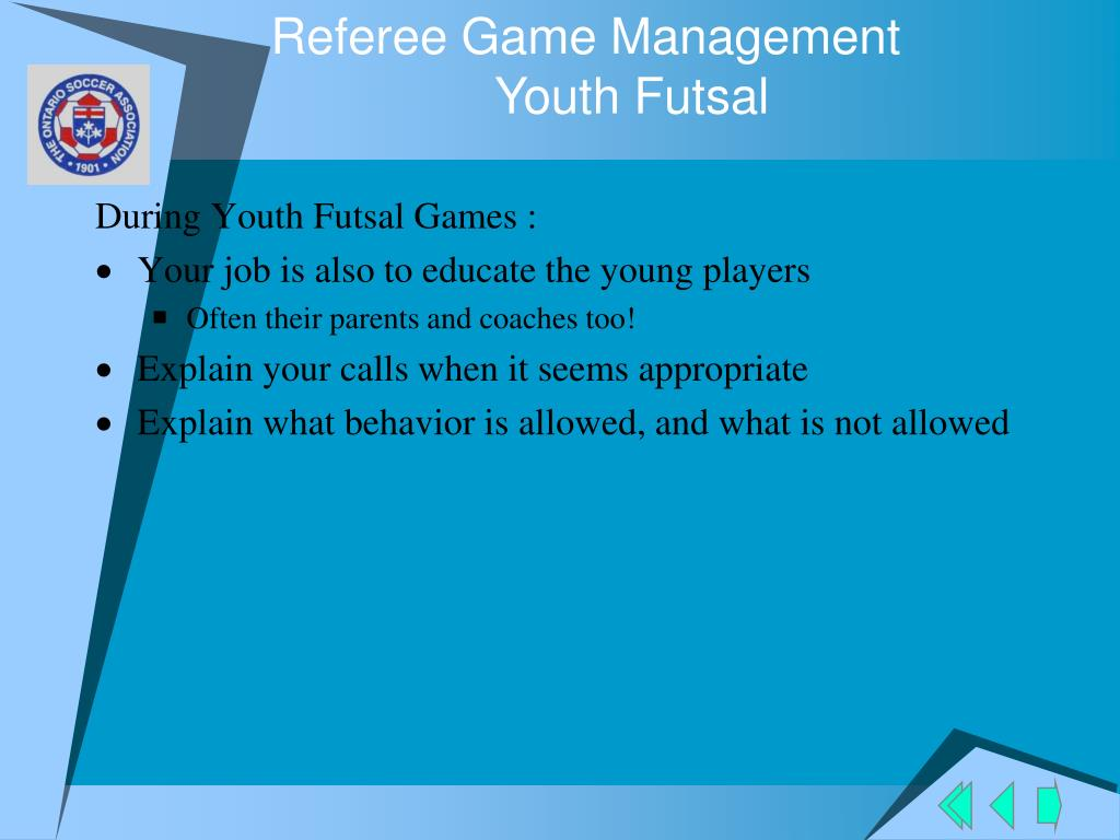 Referee Game Management