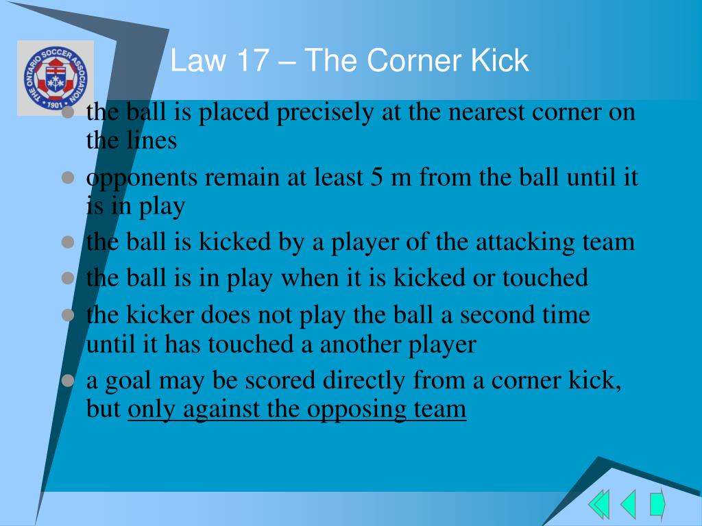 Law 17 – The Corner Kick