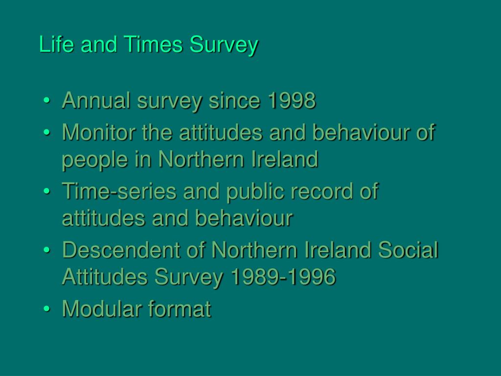 Life and Times Survey