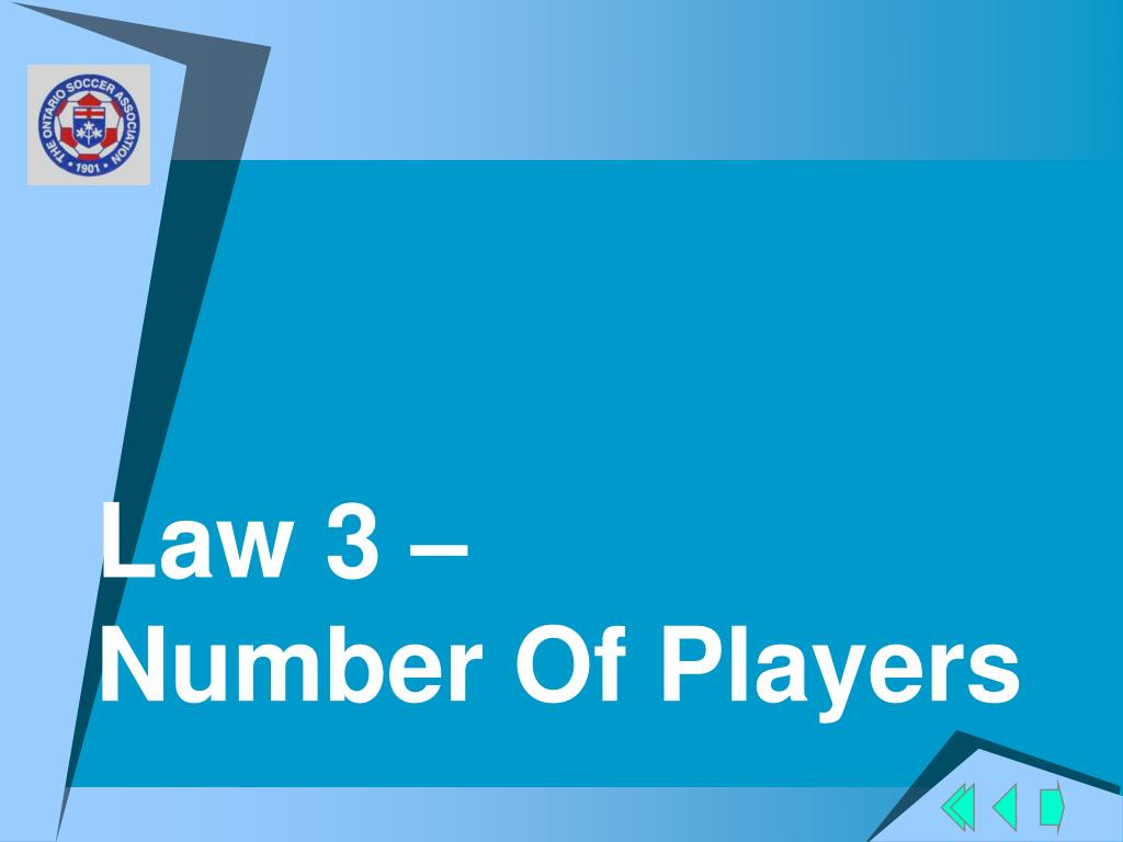 Law 3 –