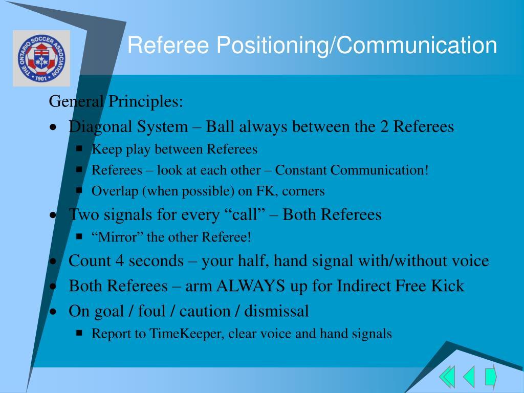 Referee Positioning/Communication