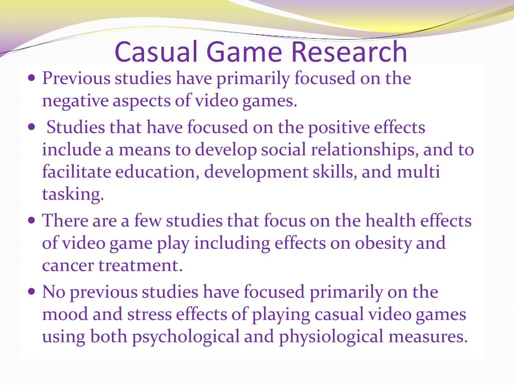Casual Game Research