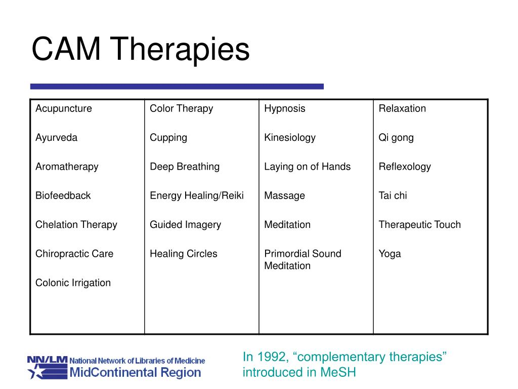 CAM Therapies