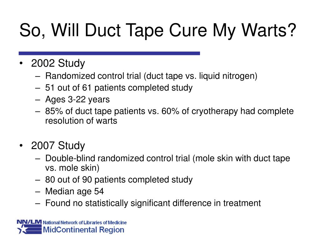 So, Will Duct Tape Cure My Warts?