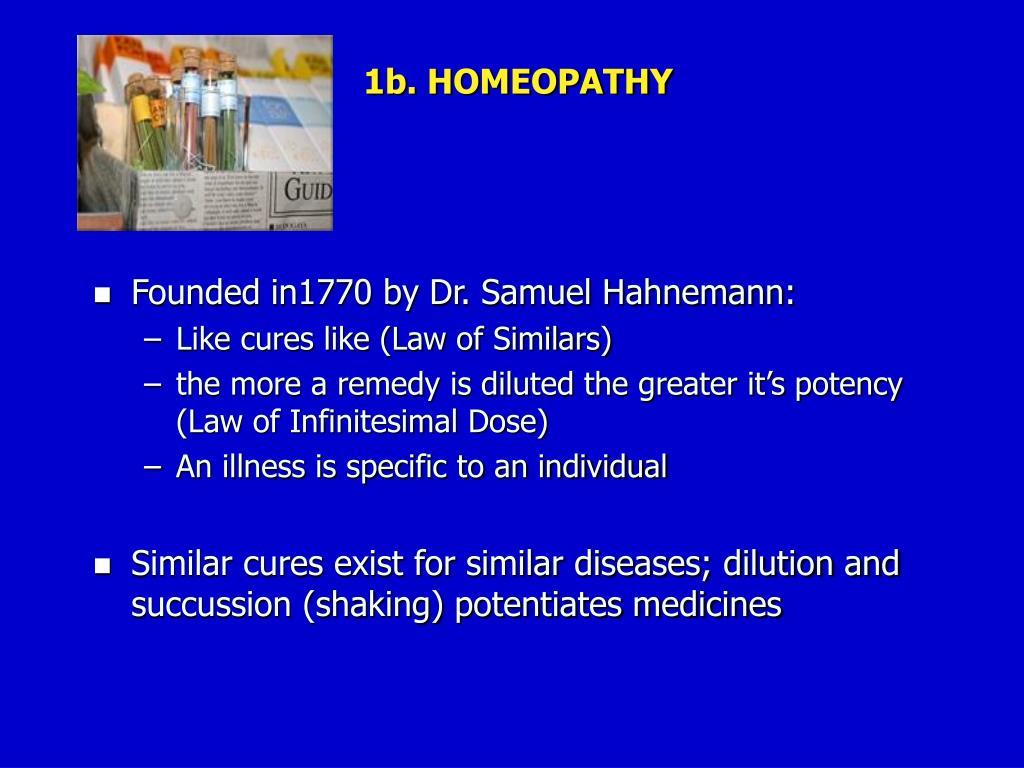 1b. HOMEOPATHY