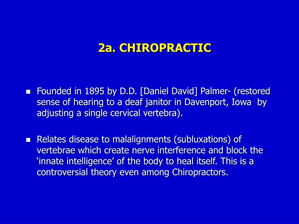 2a. CHIROPRACTIC