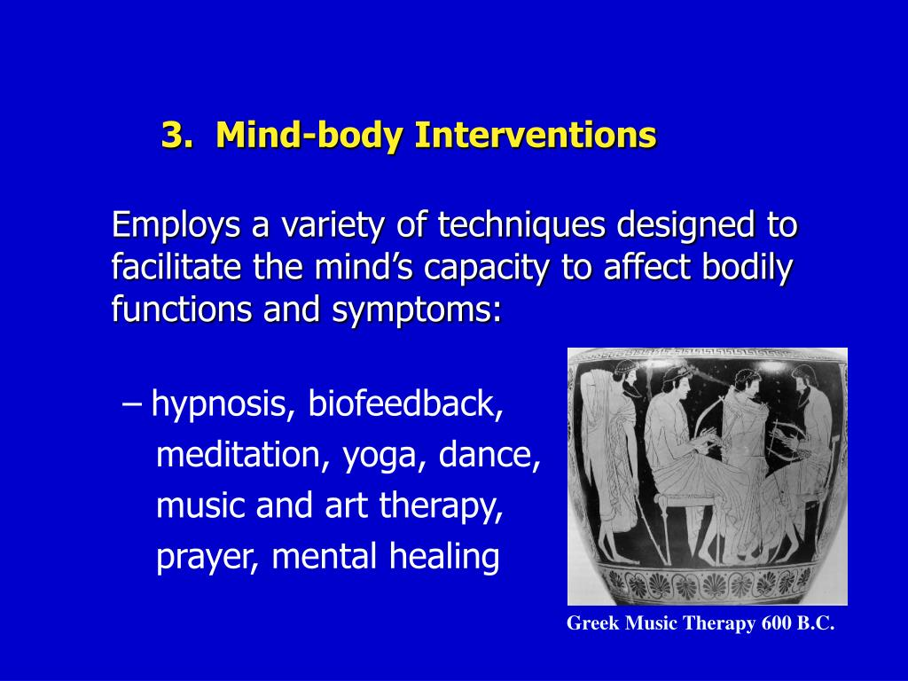 3.  Mind-body Interventions
