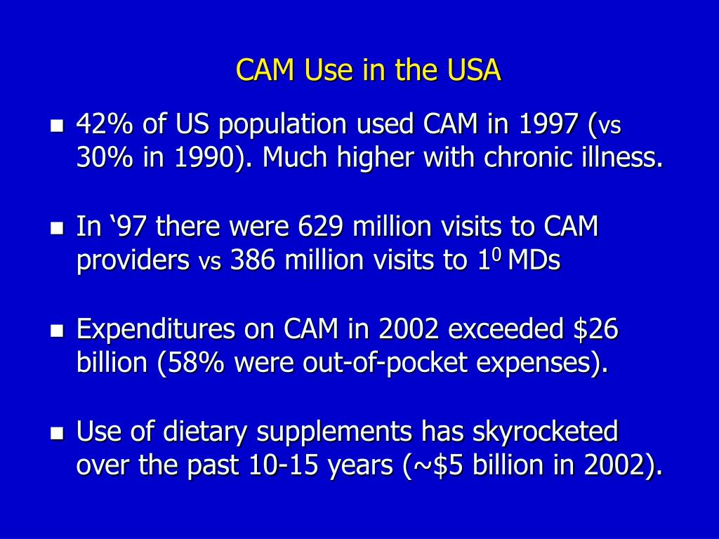 CAM Use in the USA
