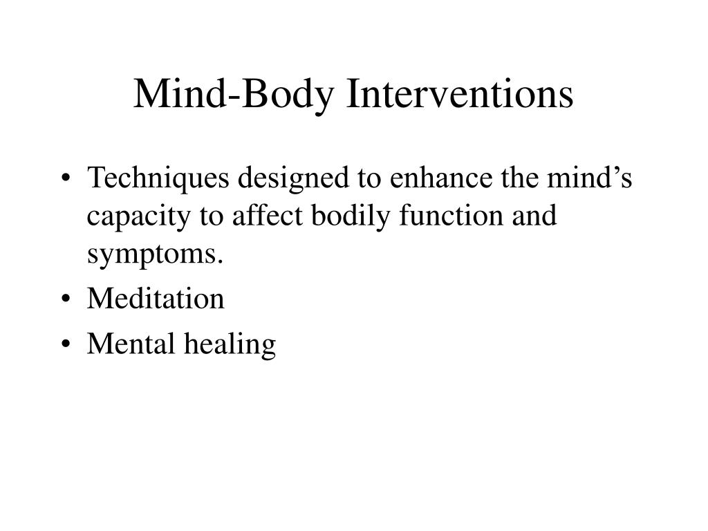 Mind-Body Interventions