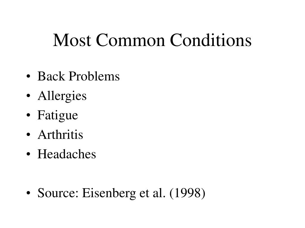 Most Common Conditions
