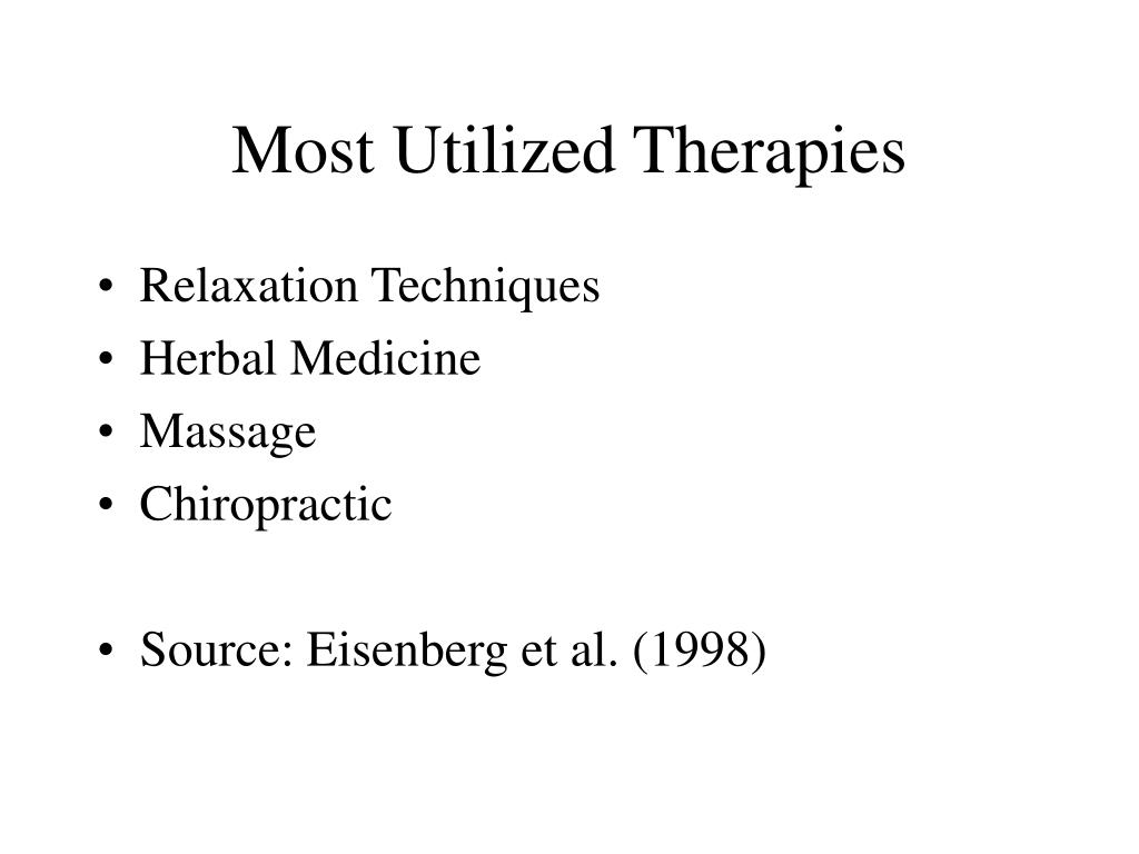 Most Utilized Therapies