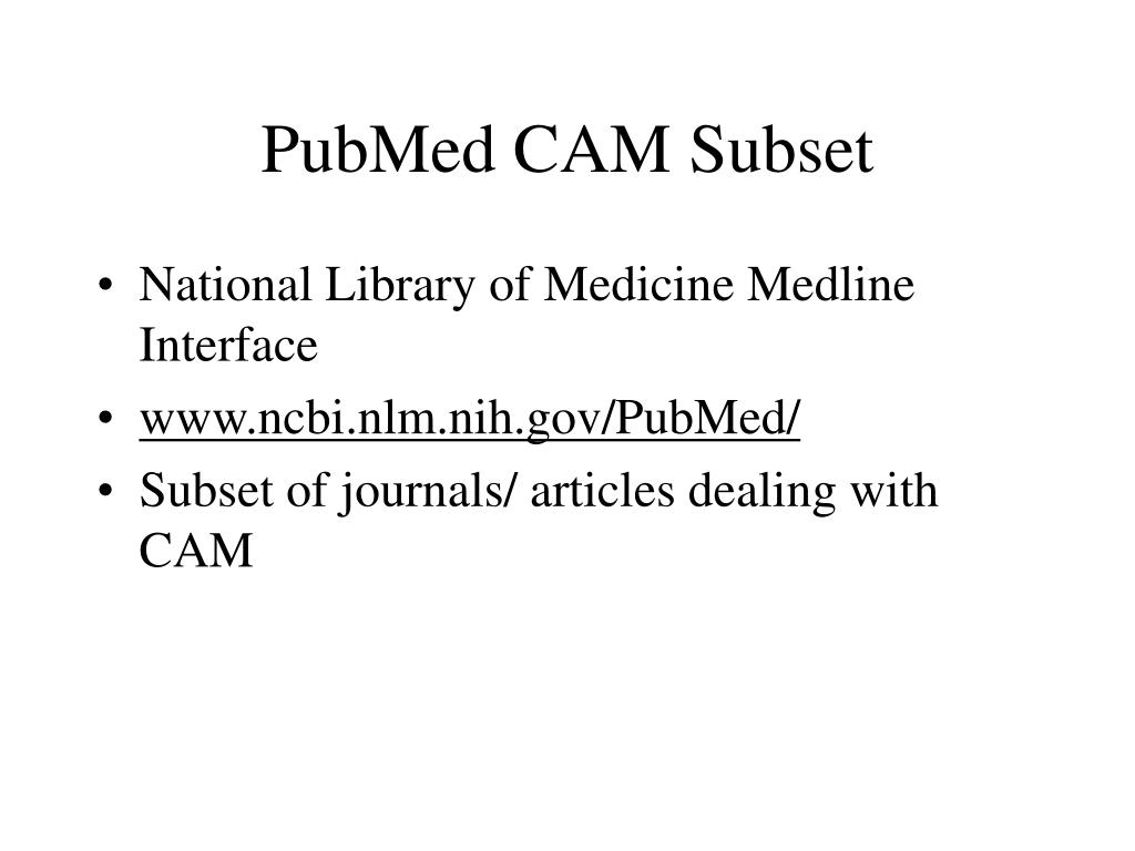 PubMed CAM Subset