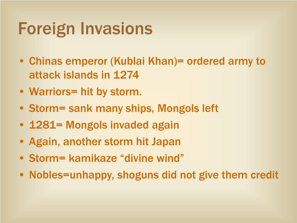 Foreign Invasions