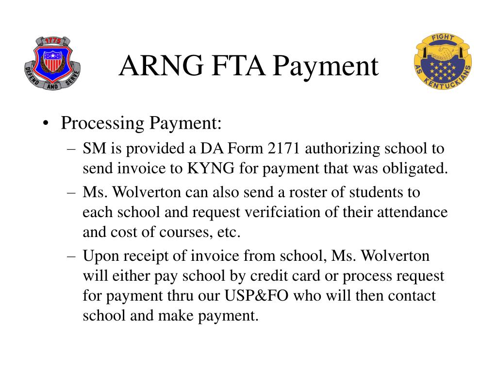 ARNG FTA Payment
