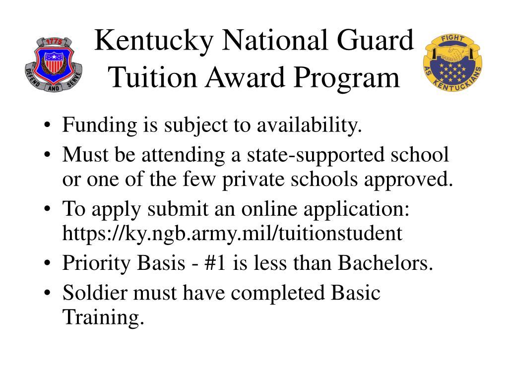 Kentucky National Guard  Tuition Award Program