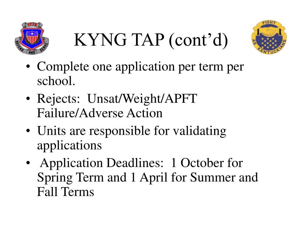 KYNG TAP (cont'd)