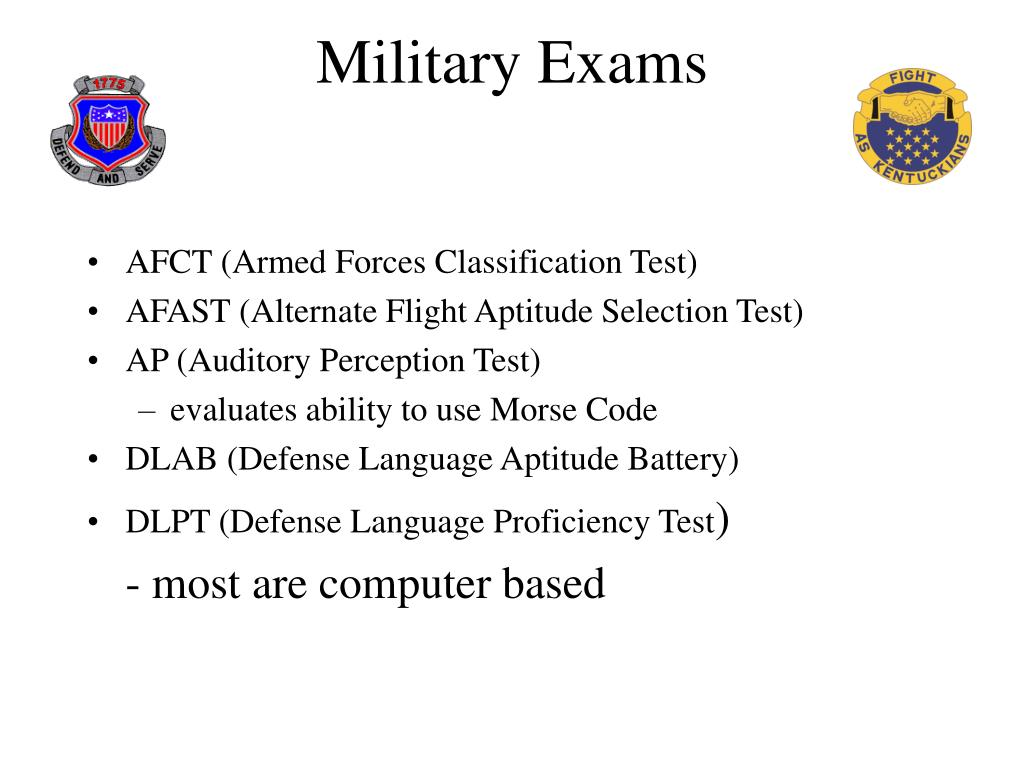 Military Exams