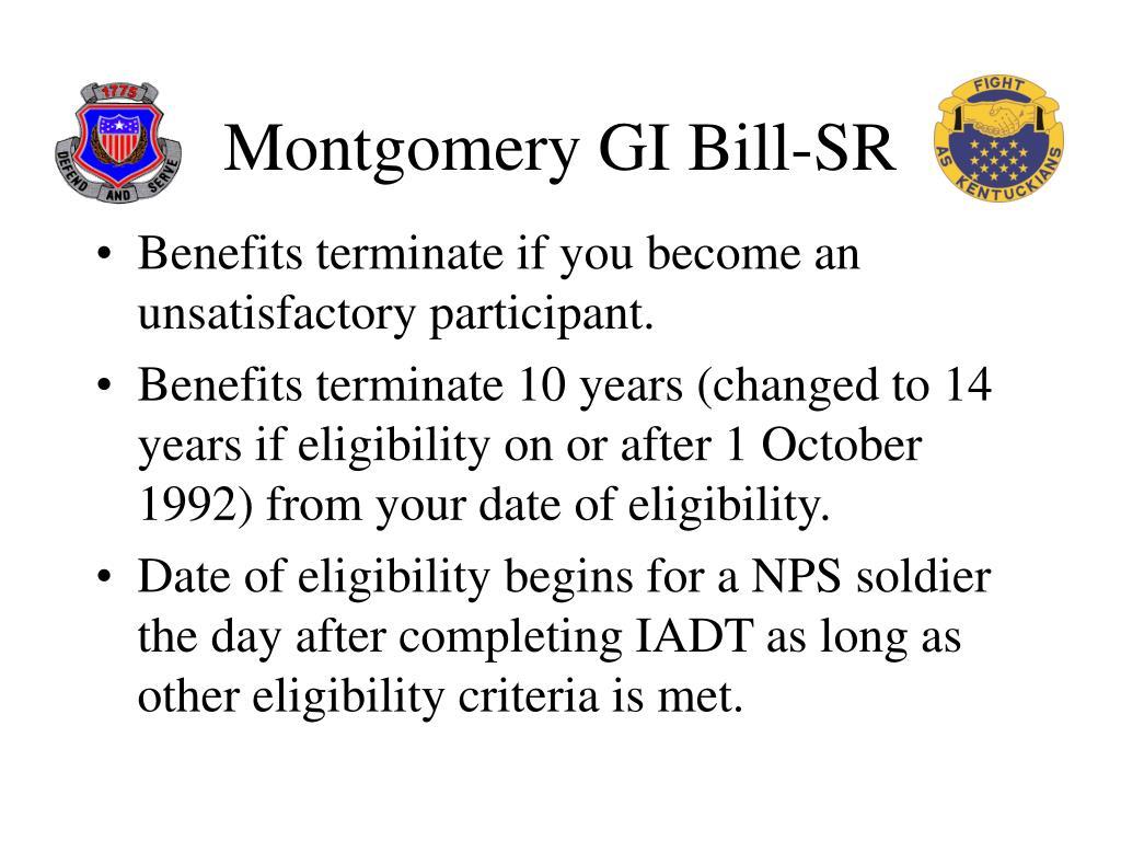 Montgomery GI Bill-SR