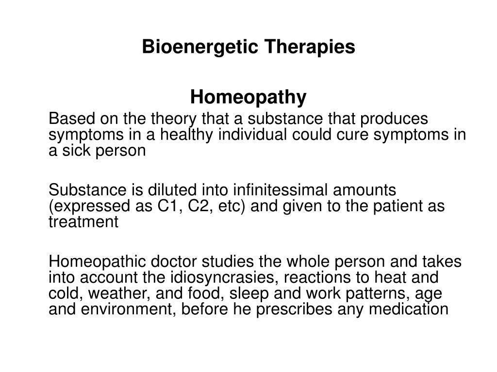 Bioenergetic Therapies