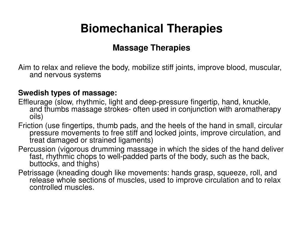 Biomechanical Therapies