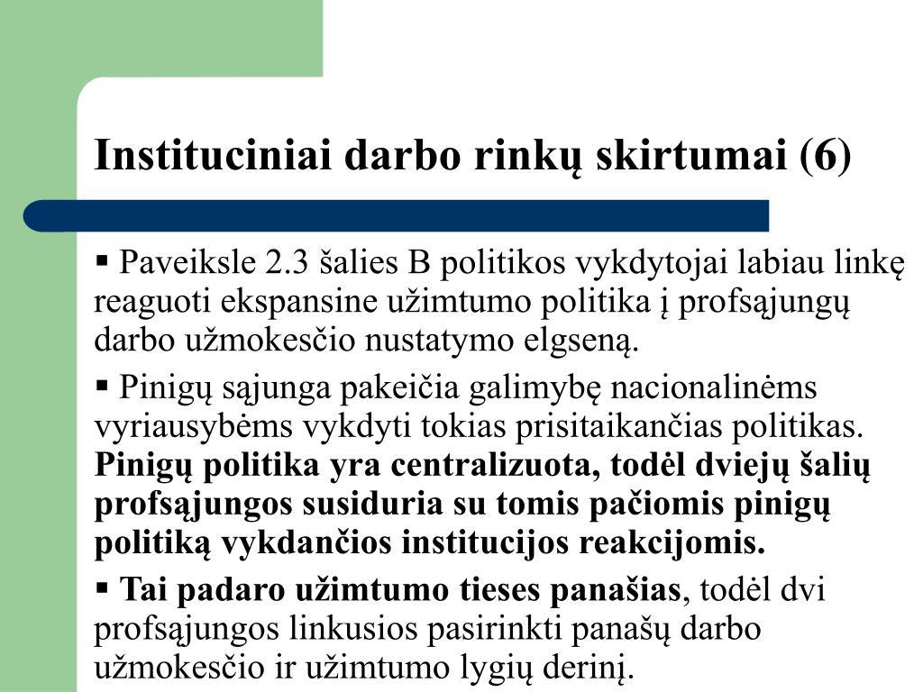 Instituciniai darbo rinkų skirtumai