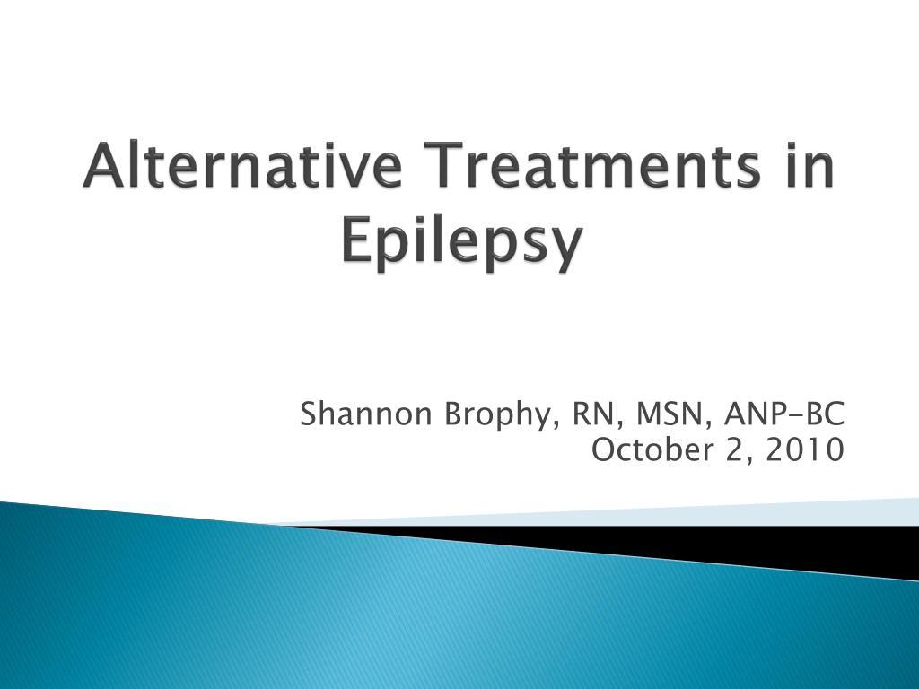 Alternative Treatments in Epilepsy