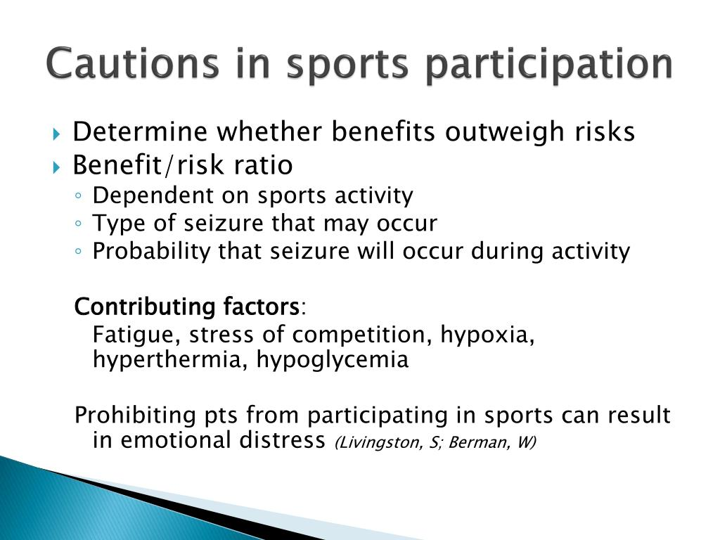 Cautions in sports participation