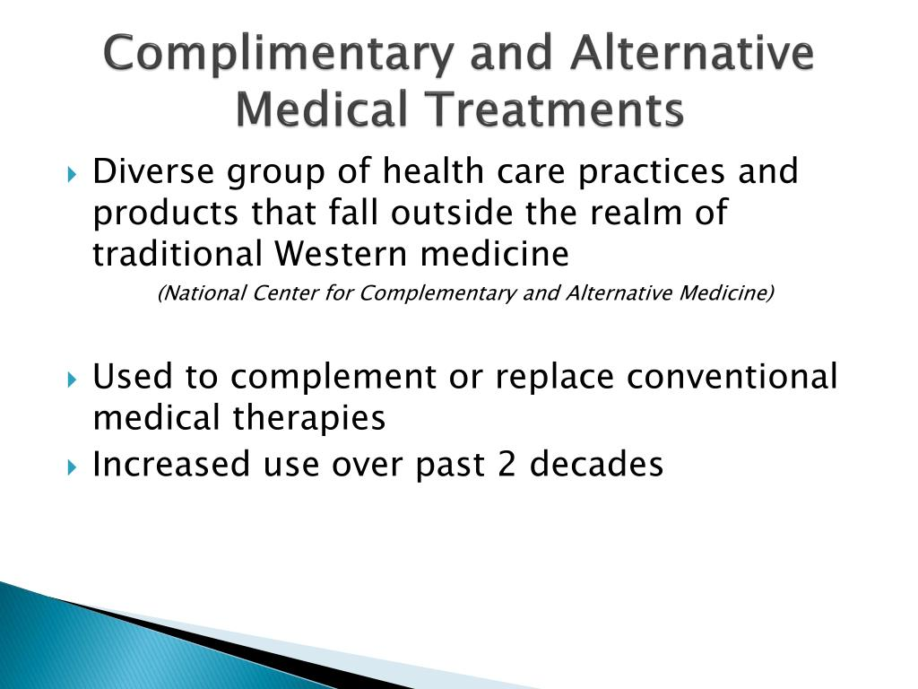 Complimentary and Alternative Medical Treatment