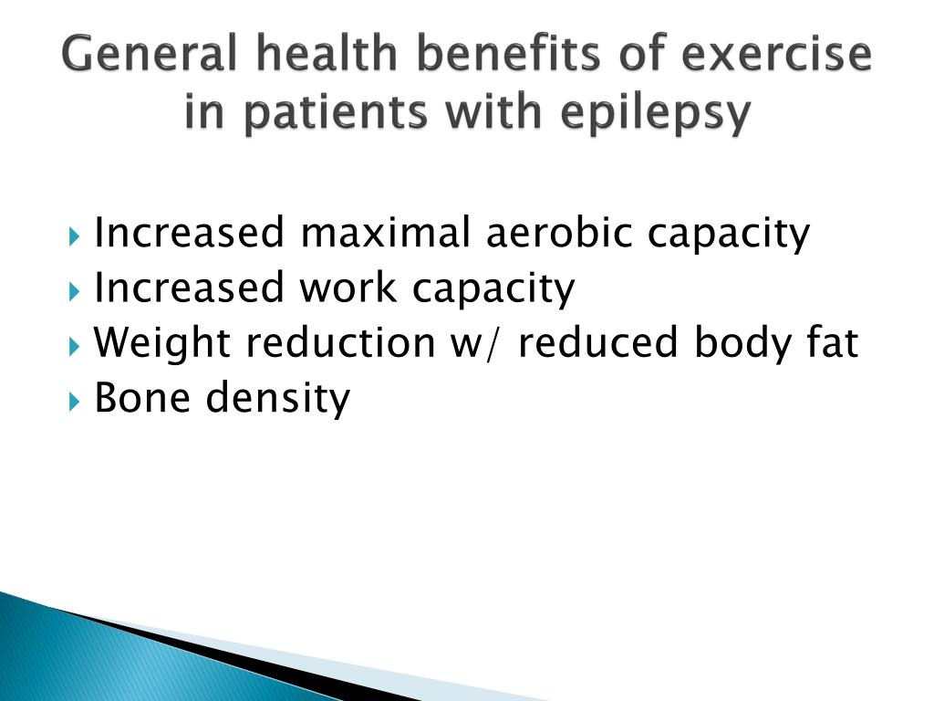 General health benefits of exercise in patients with epilepsy