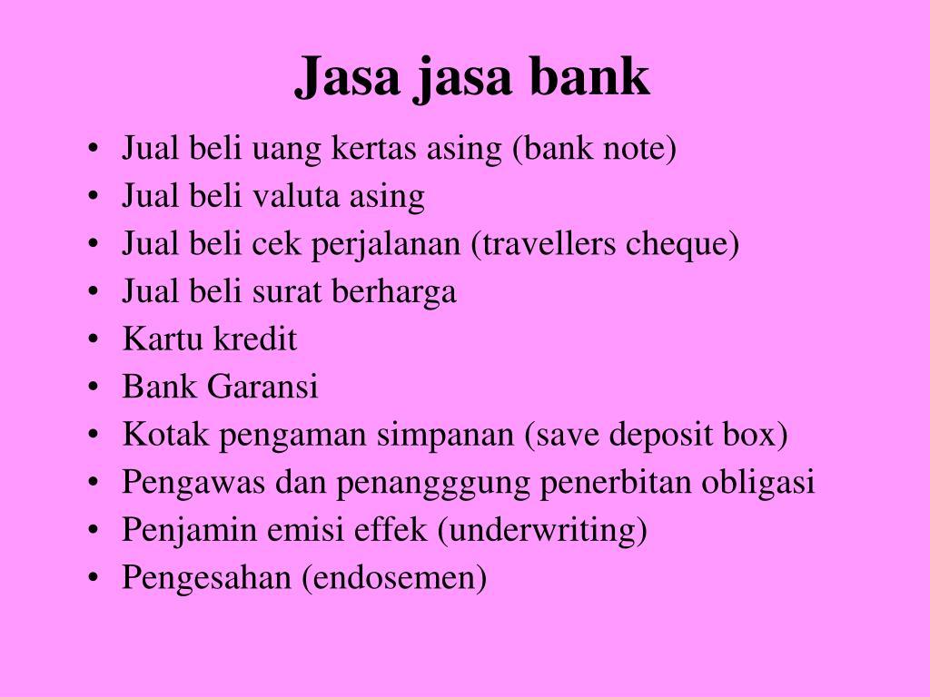 Jasa jasa bank