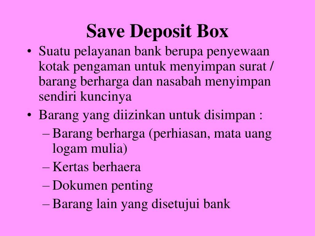 Save Deposit Box