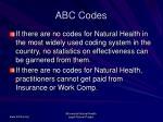abc codes57