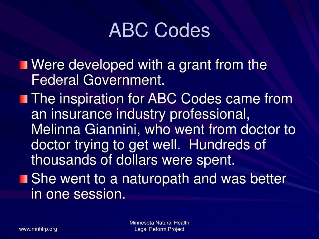 ABC Codes