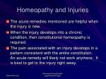 homeopathy and injuries54