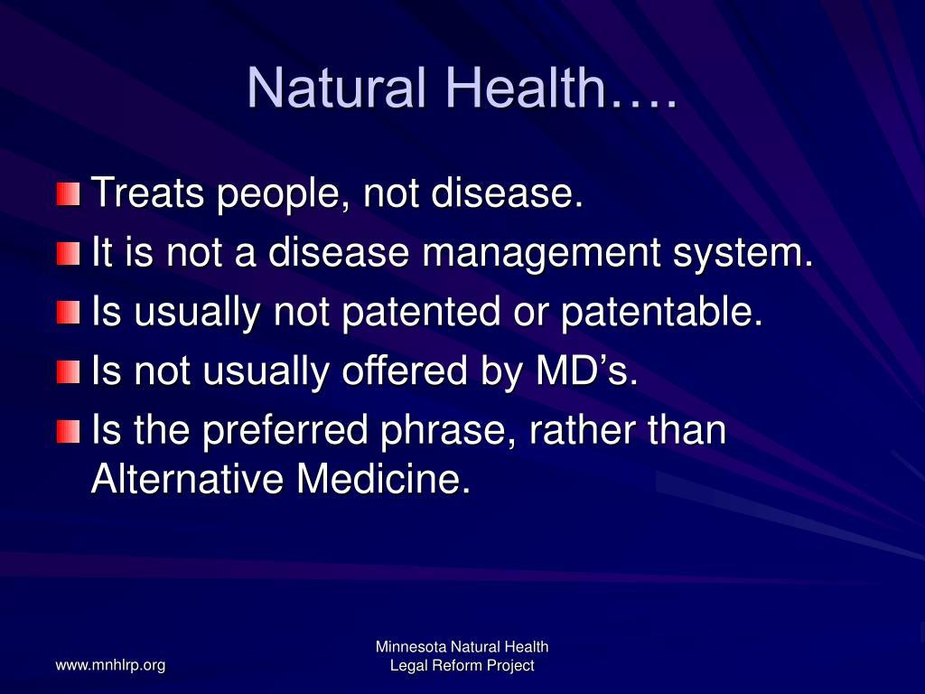 Natural Health….