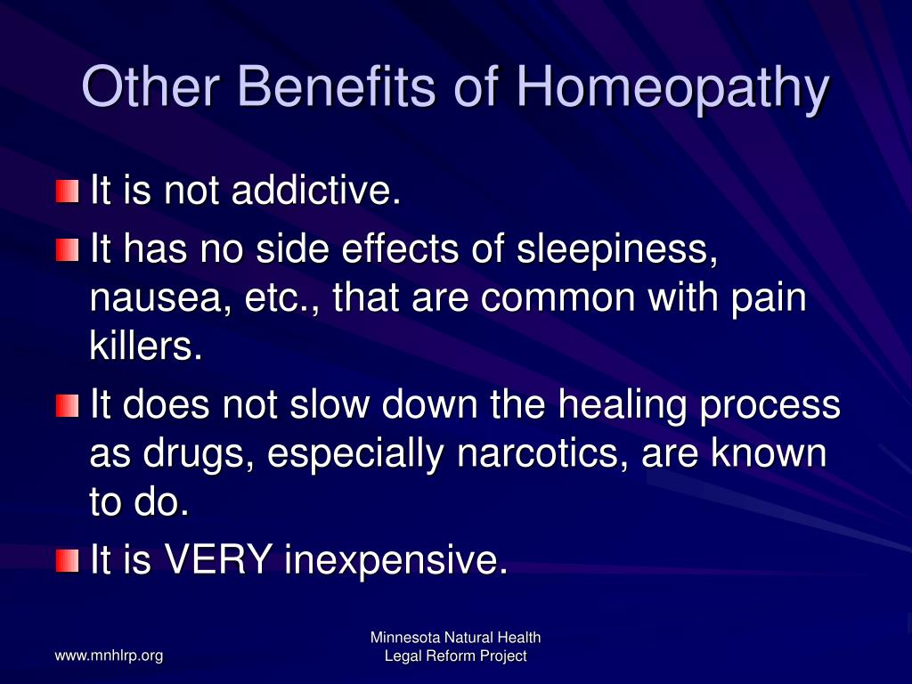 Other Benefits of Homeopathy