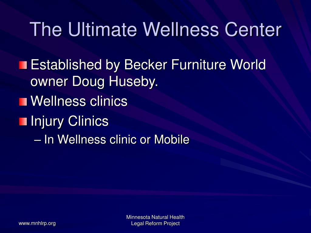The Ultimate Wellness Center