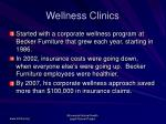 wellness clinics
