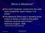 what is medicine5