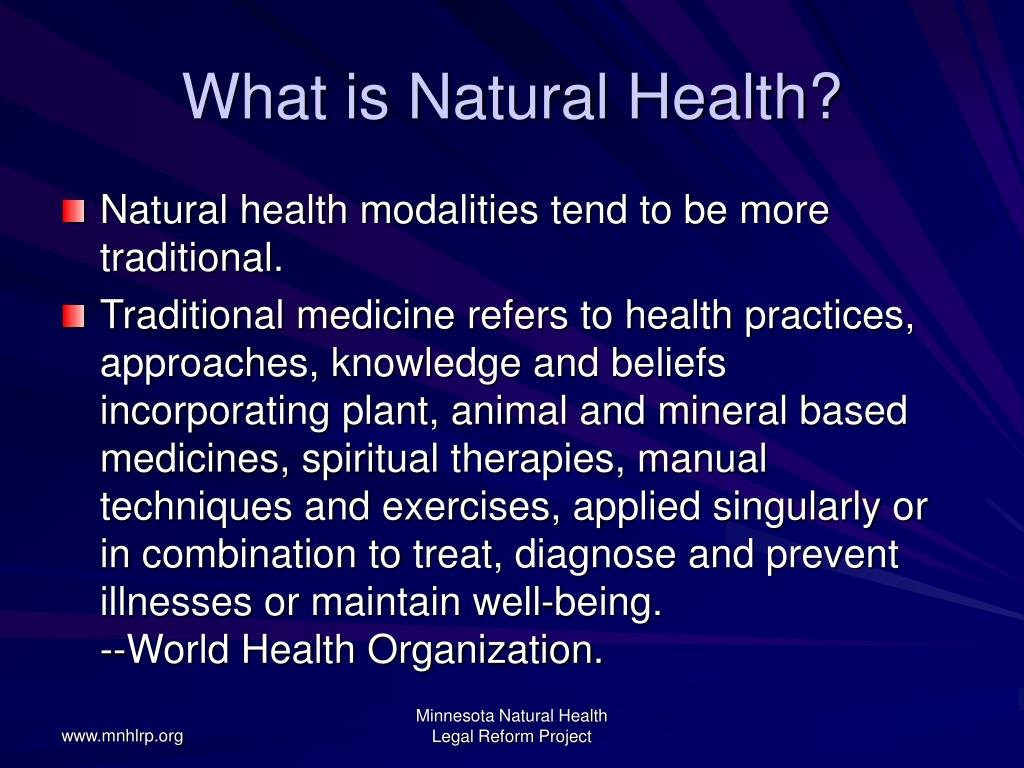 What is Natural Health?