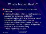 what is natural health3