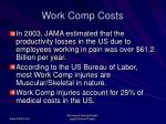 work comp costs