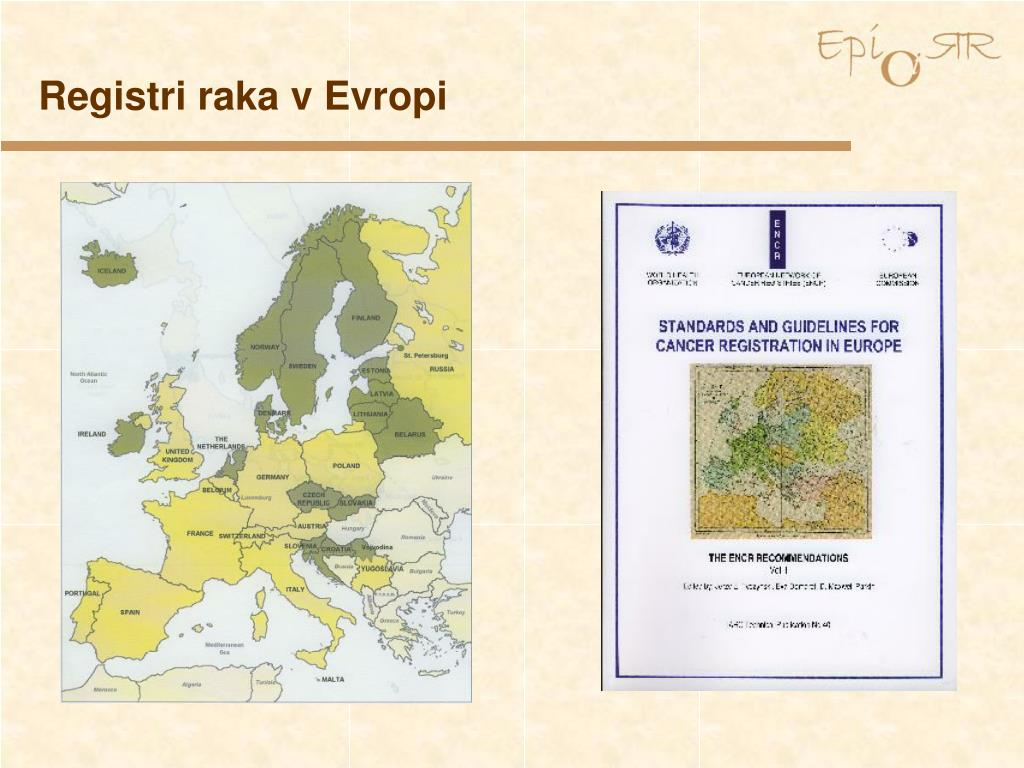 Registri raka v Evropi