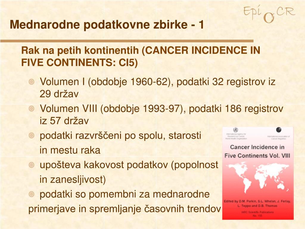 Mednarodne podatkovne zbirke - 1