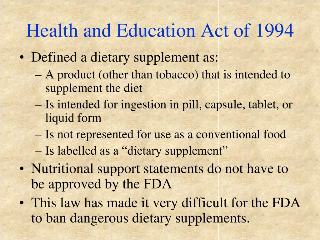 Health and Education Act of 1994